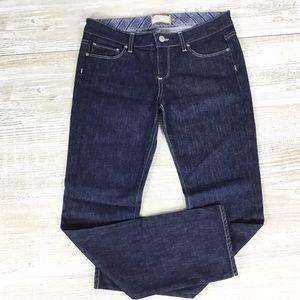 Paige Dark Wash Roxbury Crop Jean